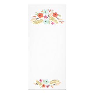 Whimsical Flower Bouquets White Rack Card