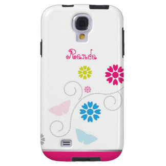 Whimsical Flower & Butterfly Samsung Galaxy S4 Galaxy S4 Case