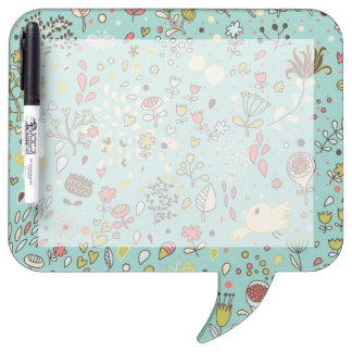 Whimsical Flower Garden Dry-Erase Board