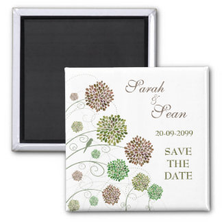 Whimsical Flower Garden Save the Date Magnet