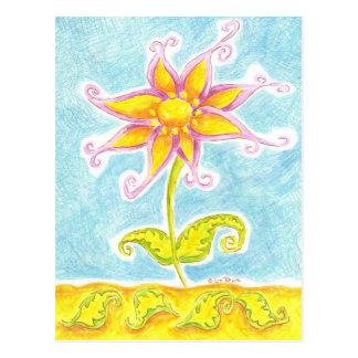 Whimsical Flower Postcard