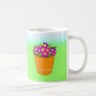 Whimsical Flower Pot Coffee Mug
