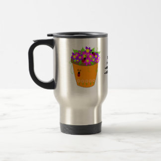 Whimsical Flower Pot with Teacher Saying Travel Mug