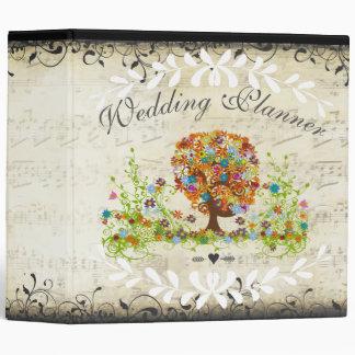 Whimsical Flower Tree Wedding Vinyl Binder