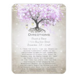 """Whimsical Flower Tree Wedding Direction Cards 4.25"""" X 5.5"""" Invitation Card"""