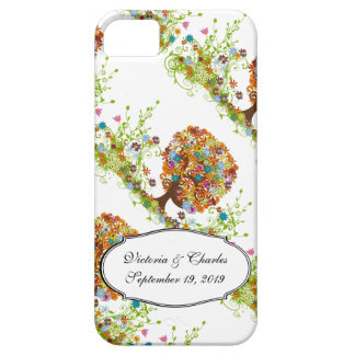 Whimsical Flower Tree Wedding iPhone 5 Cover