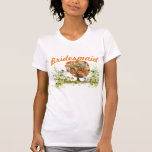 Whimsical Flower Tree Wedding T Shirt