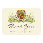 Whimsical Flower Tree Wedding Thank You Cards Invite