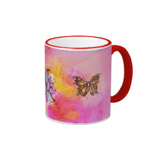 WHIMSICAL FLOWERS  AND BUTTERFLIES MUG