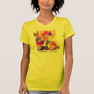 WHIMSICAL FLOWERS  AND BUTTERFLIES NATURE LOVER T-Shirt