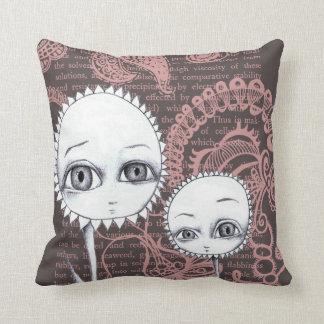 Whimsical Flowers Art Pillow