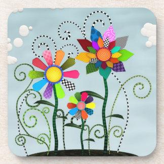 Whimsical Flowers Beverage Coaster