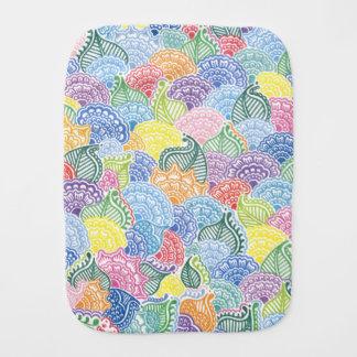 Whimsical Flowers Burp Cloth