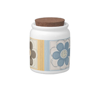 Whimsical Flowers Candy Jar