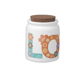 Whimsical Flowers Candy Jars