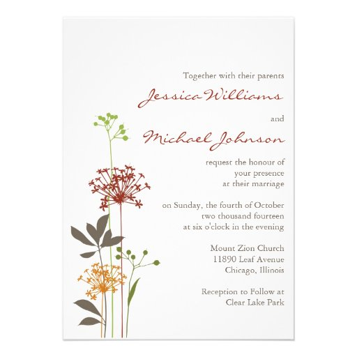 Whimsical Flowers Custom Announcement