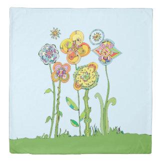 Whimsical Flowers Day & Night (see back) Duvet Cover