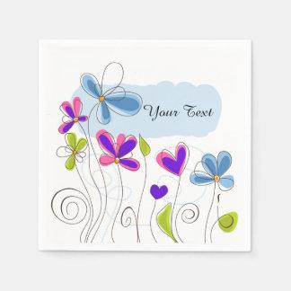 Whimsical Flowers | DIY Text Napkin