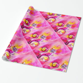 WHIMSICAL FLOWERS  fuchsia pink yellow Gift Wrap