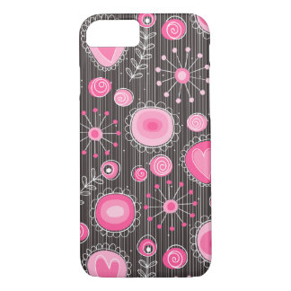 Whimsical Flowers in Pink iPhone 7 case