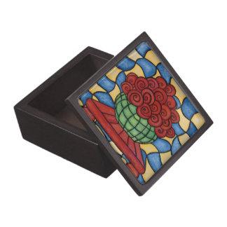 Whimsical Flowers In Vase Keepsake Box