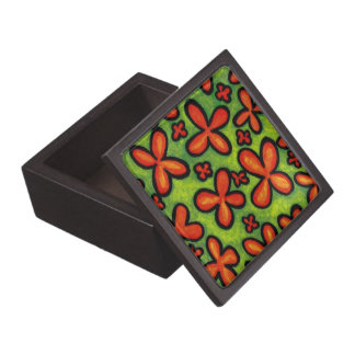 Whimsical Flowers Jewelry Box