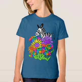 whimsical flowers kids apparel T-Shirt