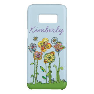 Whimsical Flowers l Personalize + DIY background Case-Mate Samsung Galaxy S8 Case