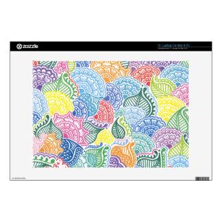 Whimsical Flowers Laptop Skin