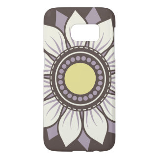 Whimsical Flowers Lavender Purple Samsung Galaxy S7 Case