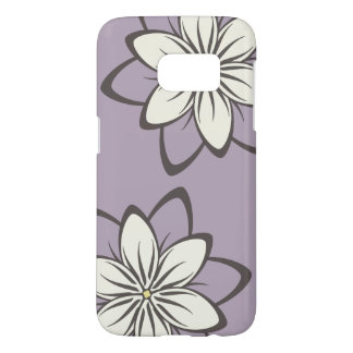 Whimsical Flowers Lavender Samsung Galaxy S7 Case