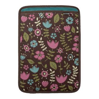 Whimsical Flowers Nature Pattern MacBook Air Sleeve