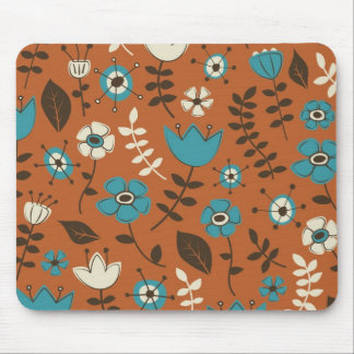 Whimsical Flowers Nature Pattern Mouse Pad