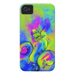 WHIMSICAL FLOWERS pink yellow green purple iPhone 4 Cover