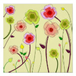 Whimsical Flowers - Poster