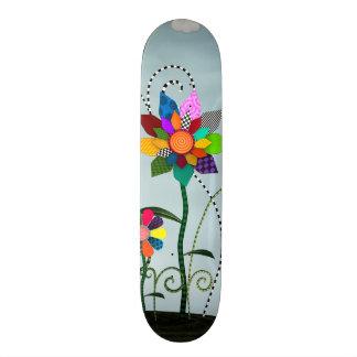 Whimsical Flowers Skateboard Deck