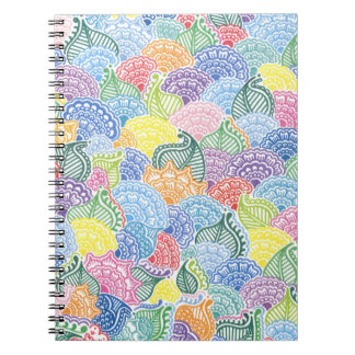 Whimsical Flowers Spiral Notebook