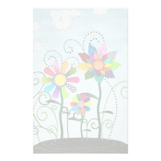 Whimsical Flowers Stationery