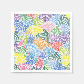Whimsical Flowers Disposable Napkin