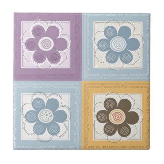 Whimsical Flowers Tile