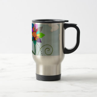 Whimsical Flowers Travel Mug