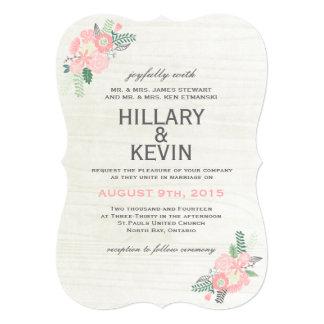 Whimsical Flowers - Wedding Invitation