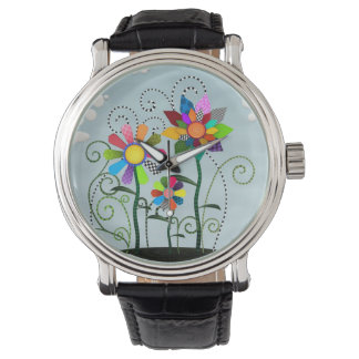 Whimsical Flowers Wristwatches
