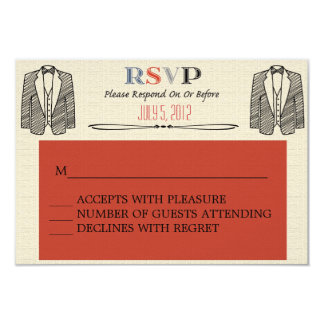 Whimsical Font Gay Wedding RSVP Card