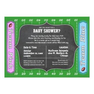 Whimsical Football Themed Baby Shower Invitation