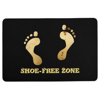 Whimsical Footprints Shoe-Free Zone Cool Custom Floor Mat