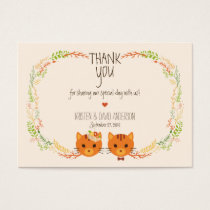 Whimsical Forest Cats Cream Gift Tags / Cards