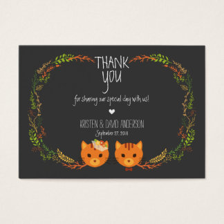 Whimsical Forest Cats Wedding Gift Tags / Cards