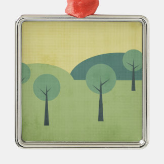 Whimsical Forest Metal Ornament
