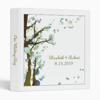 Whimsical Forest Trees Wedding Photo Album Binders